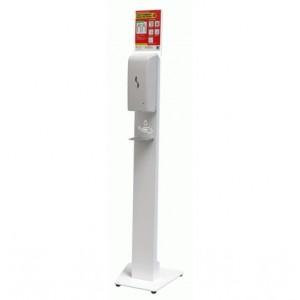 Distributeur de Gel hydroalcoolique automatique avec support à pied